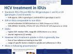 hcv treatment in idus