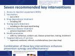 seven recommended key interventions