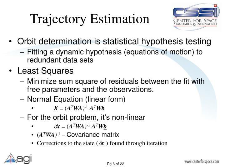 Trajectory Estimation