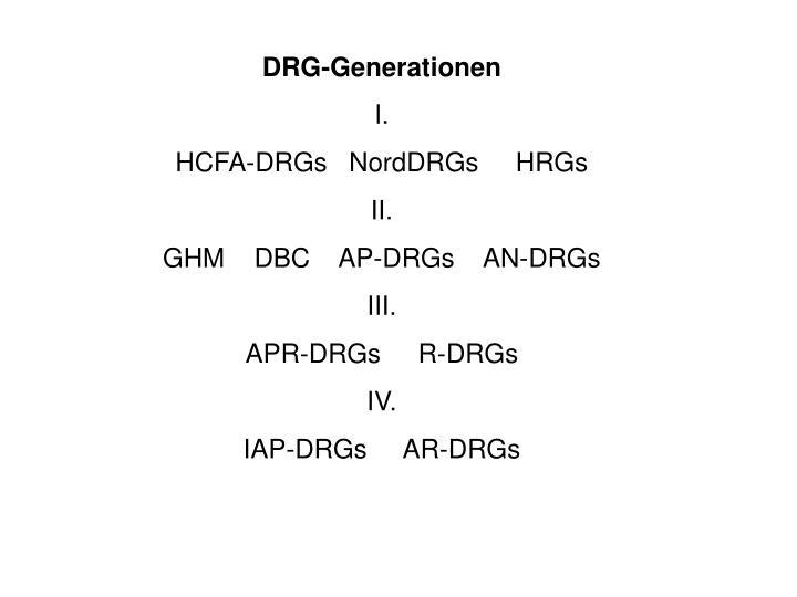 DRG-Generationen