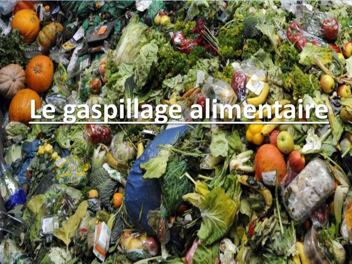 l e gaspillage alimentaire n.