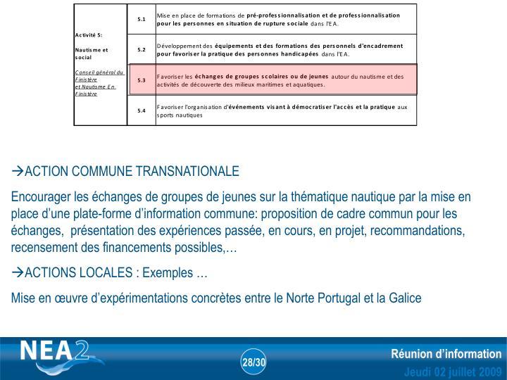 ACTION COMMUNE TRANSNATIONALE