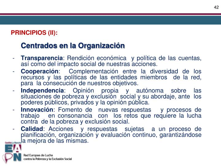 PRINCIPIOS (II):