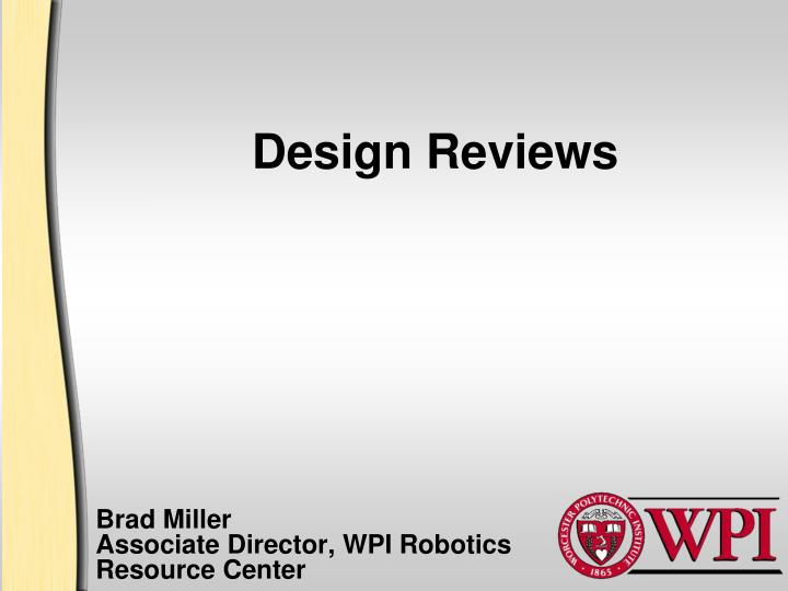 design reviews n.