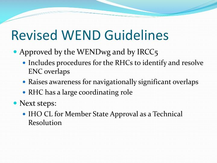 Revised wend guidelines