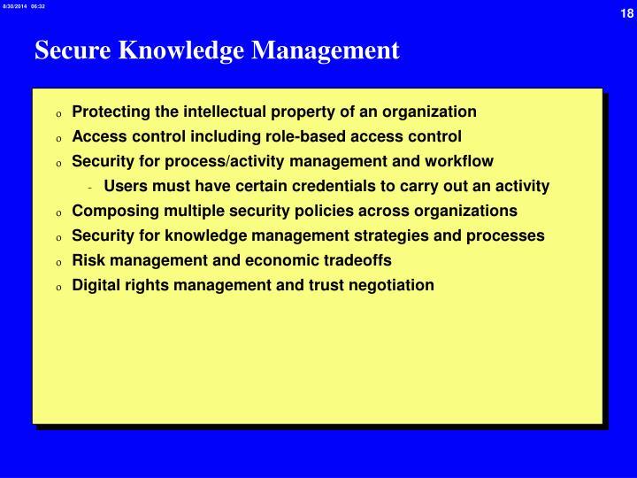 Secure Knowledge Management