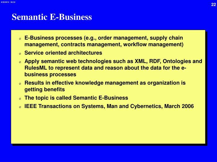 Semantic E-Business