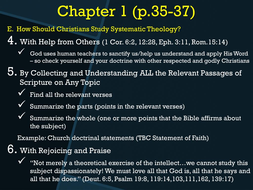 PPT - Systematic Theology PowerPoint Presentation - ID:3703273