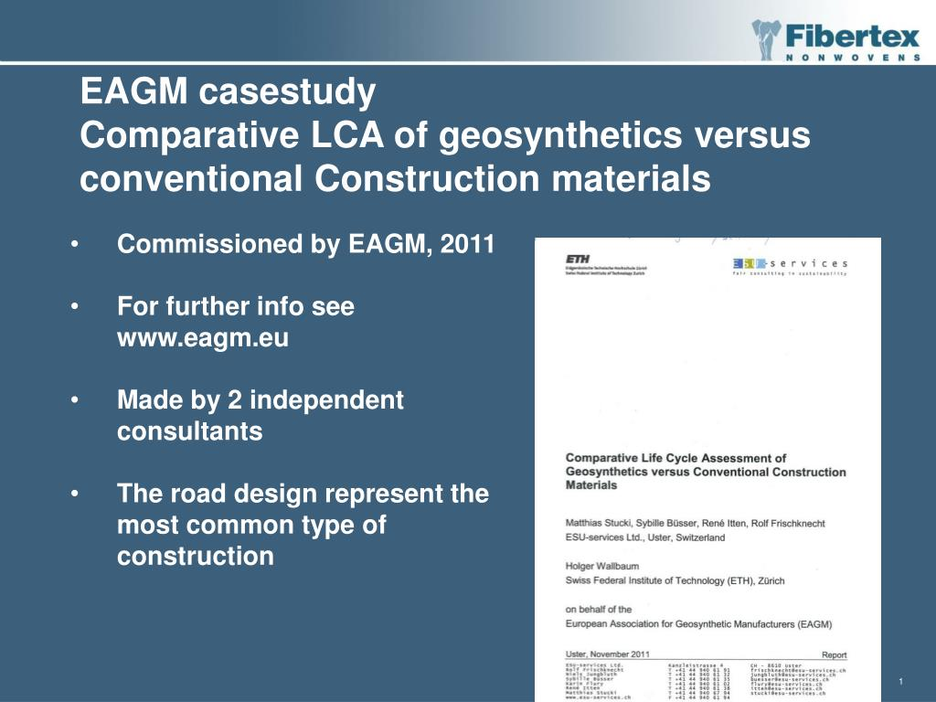 PPT - EAGM casestudy Comparative LCA of geosynthetics versus