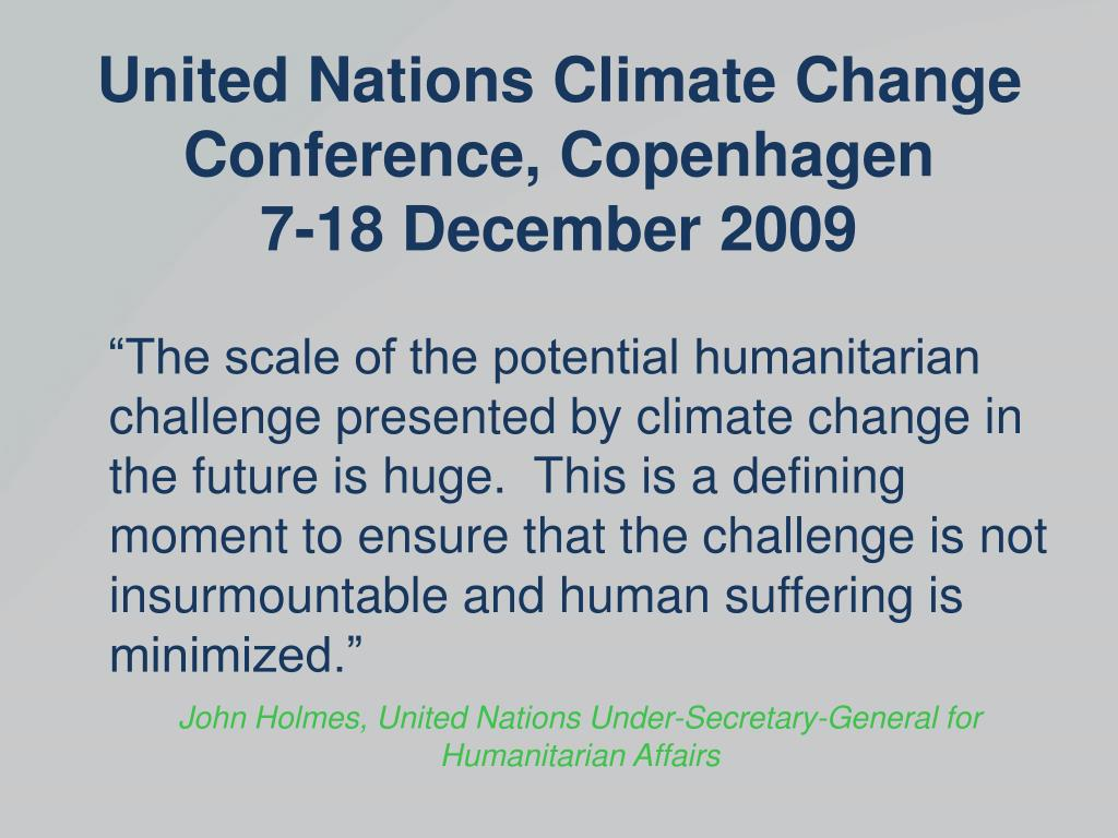 Ppt Climate Change Thinking Ahead To Copenhagen Powerpoint