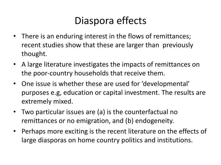 Diaspora effects