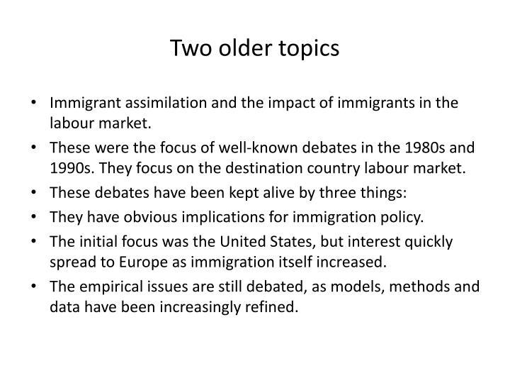 Two older topics