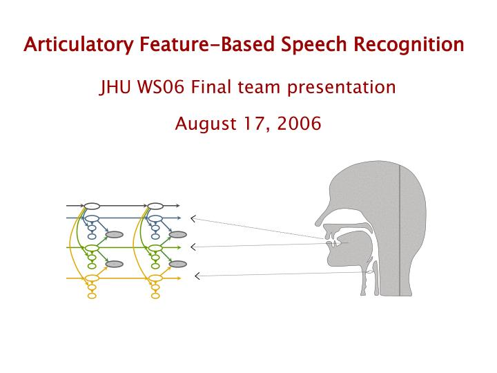 articulatory feature based speech recognition n.