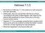 hebrews 7 1 3