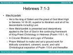 hebrews 7 1 31
