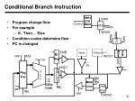 conditional branch instruction