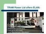 tram power ltd offers elan