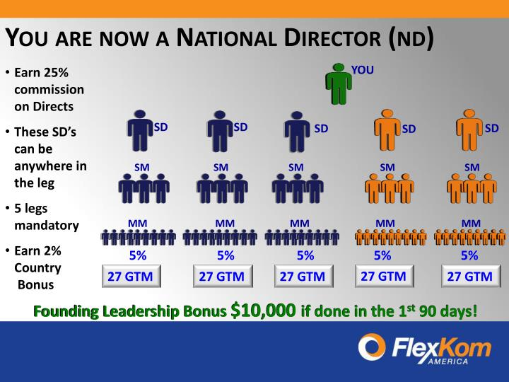 You are now a National Director (