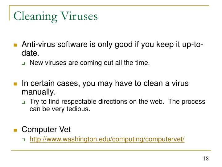 Cleaning Viruses