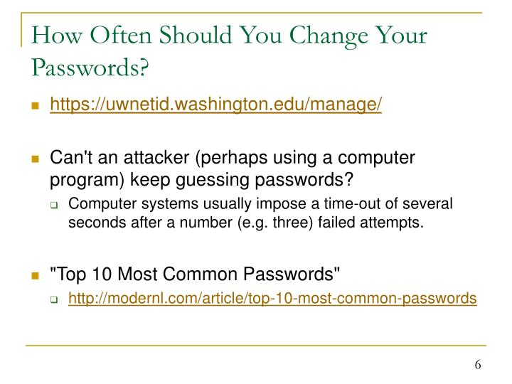 How Often Should You Change Your Passwords?