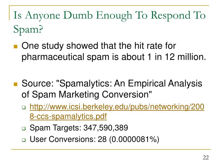 Is Anyone Dumb Enough To Respond To Spam?