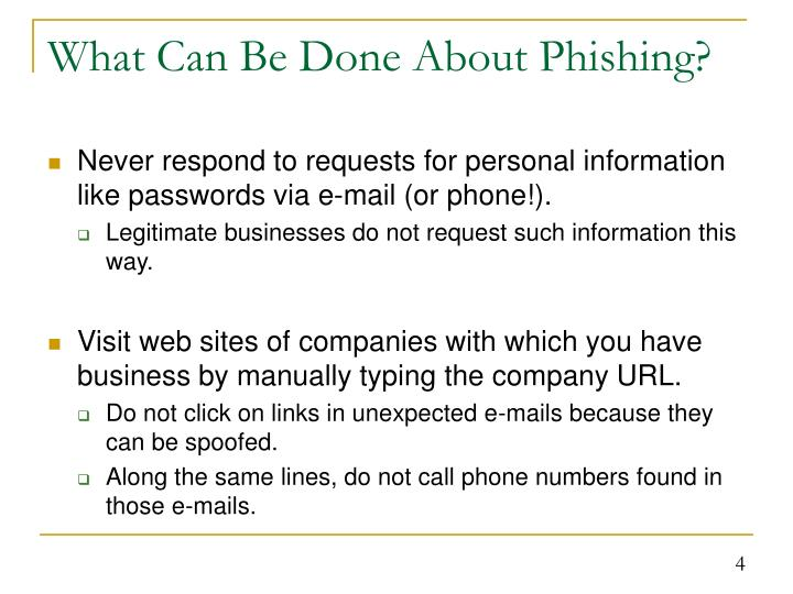 What Can Be Done About Phishing?