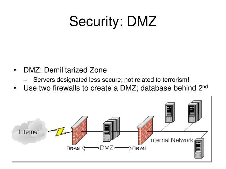Security: DMZ