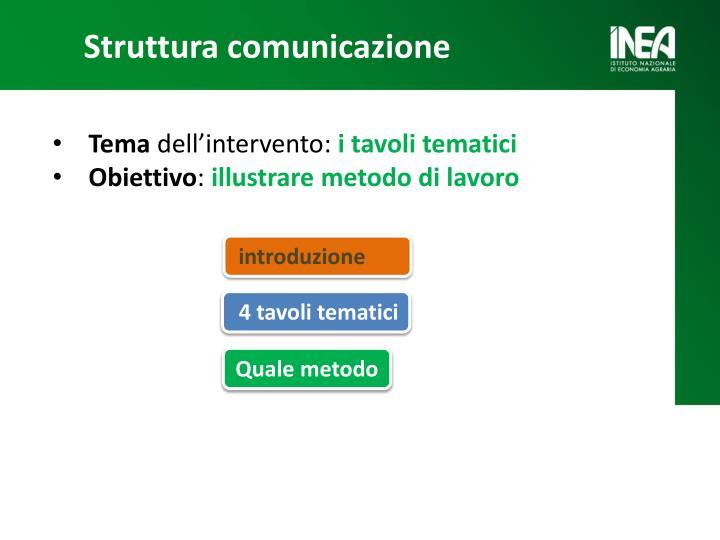 Struttura comunicazione