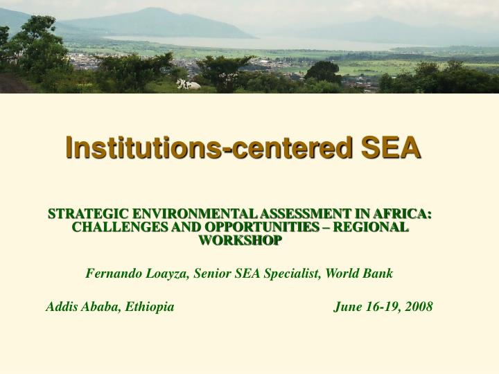 institutions centered sea n.