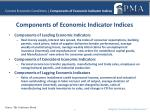 current economic conditions components of economic indicator indices