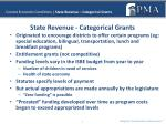 current economic conditions state revenue categorical grants