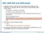 api gss api and gss assist
