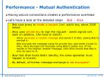 performance mutual authentication