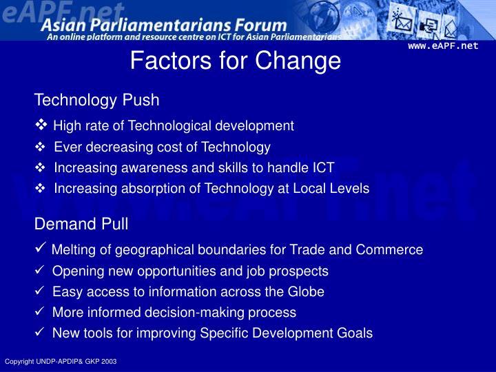 Factors for Change