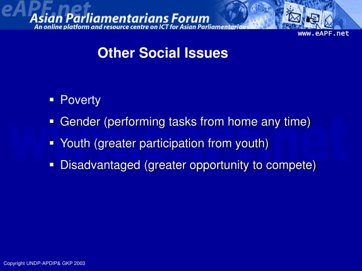 Other Social Issues
