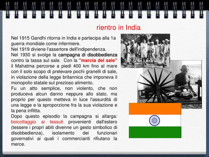 rientro in India