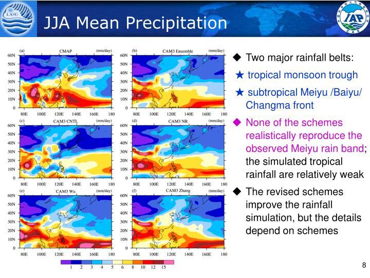 JJA Mean Precipitation
