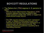 boycott regulations
