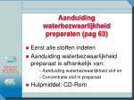 aanduiding waterbezwaarlijkheid preparaten pag 63