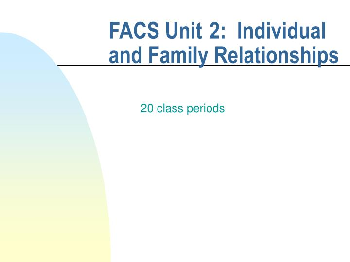 facs unit 2 individual and family relationships n.