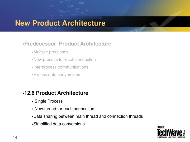 New Product Architecture