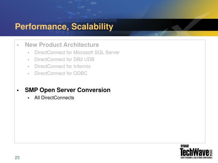 Performance, Scalability
