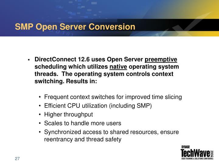 SMP Open Server Conversion