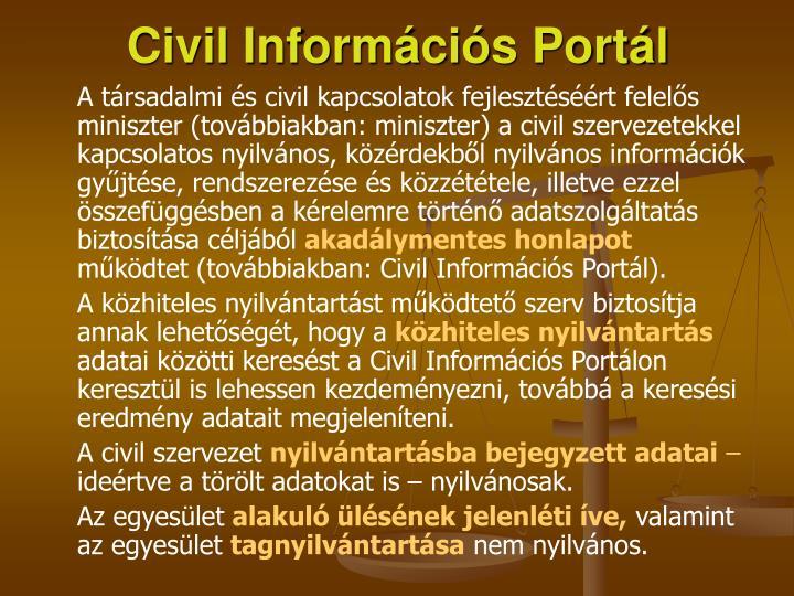 Civil Információs Portál