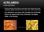 acrilamida carcin geno