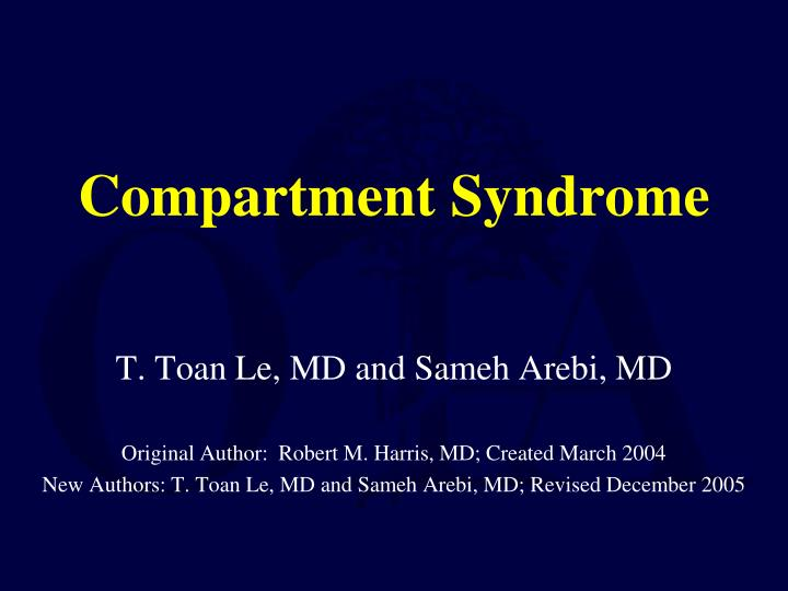 compartment syndrome n.