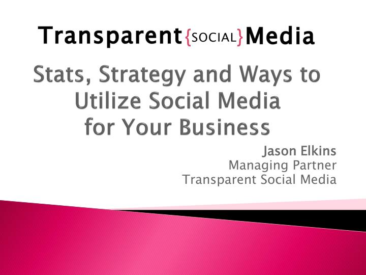 stats strategy and ways to utilize social media for your business n.