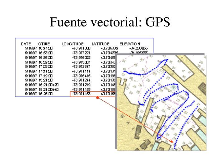 Fuente vectorial: GPS