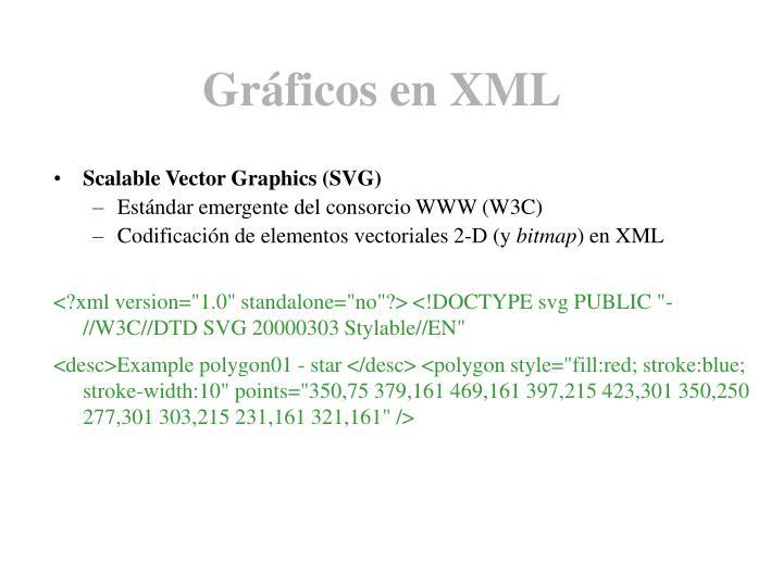 Gráficos en XML