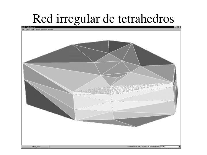 Red irregular de tetrahedros